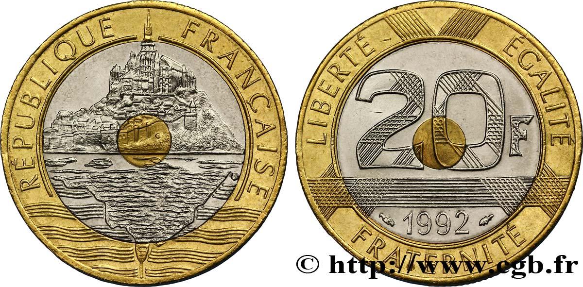 piece de monnaie 20 francs 1992