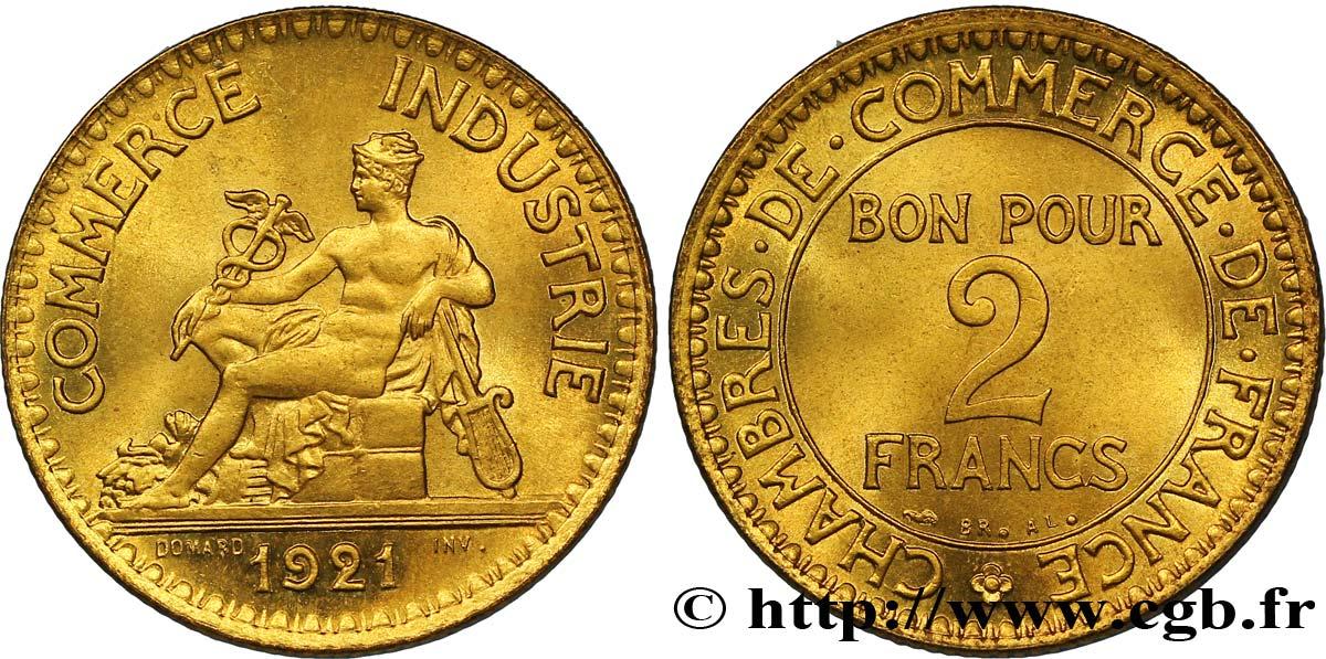 2 francs chambres de commerce 1921 fmd 127221 modernes for Chambre de commerce des bois francs