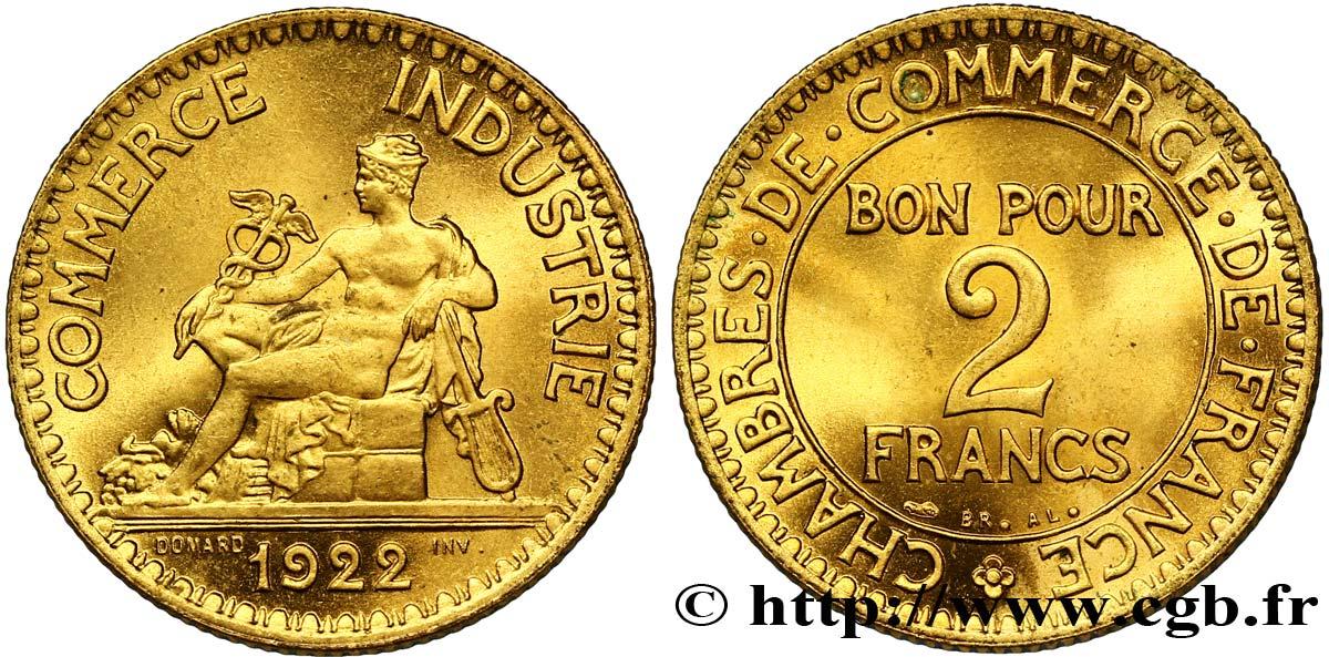 2 francs chambres de commerce 1922 fmd 127242 for Chambre de commerce des bois francs