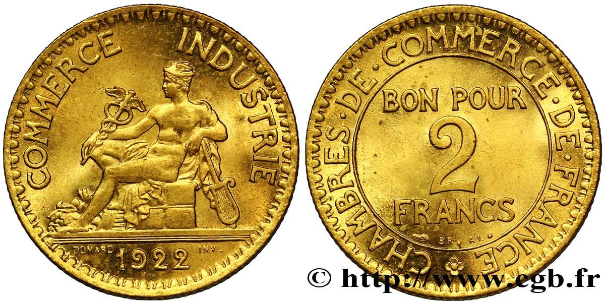 2 francs chambres de commerce 1922 fmd 127243 modernes - Chambre des commerces et d industrie ...