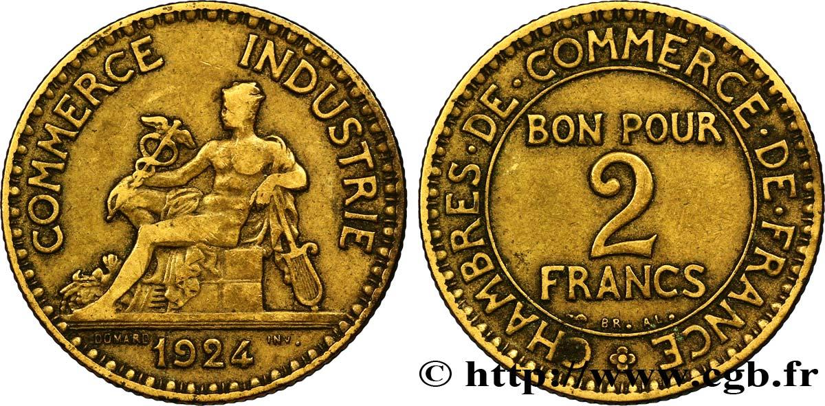 2 francs chambres de commerce 1924 fmd 127338 for Chambre de commerce des bois francs
