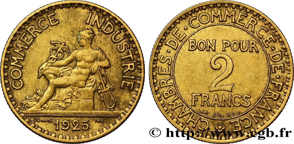 2 francs chambres de commerce 1925 fmd 127384 modernes for Chambre de commerce des bois francs