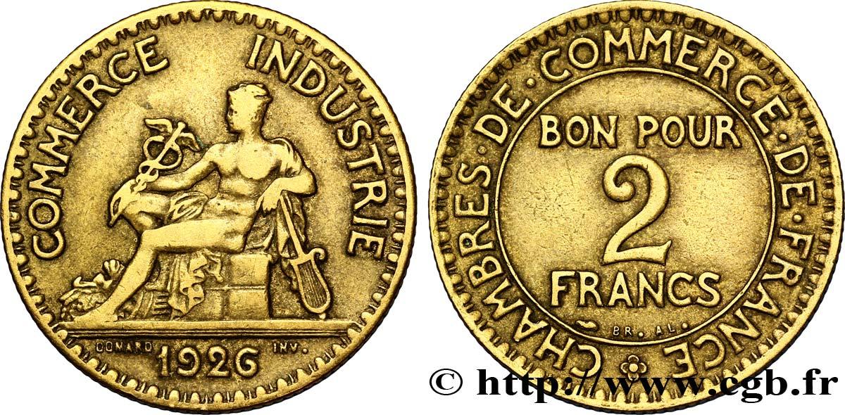 2 francs chambres de commerce 1926 fmd 127419 for Chambre de commerce des bois francs
