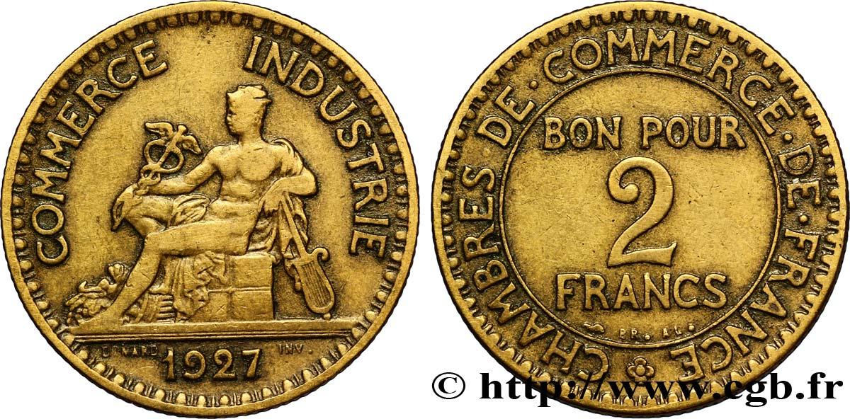 2 francs chambres de commerce 1927 fmd 127433 modernes for Chambre de commerce des bois francs