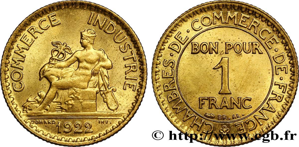 1 franc chambres de commerce 1922 paris ms62 fmd for Chambre commerce industrie paris