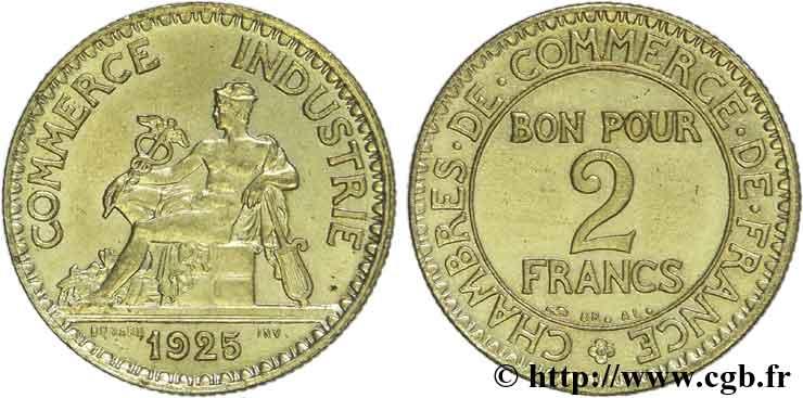 2 francs chambres de commerce 1925 fmd 137877 for Chambre de commerce des bois francs