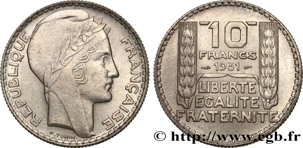 10 francs Turin 1931  F.360/4 SUP62