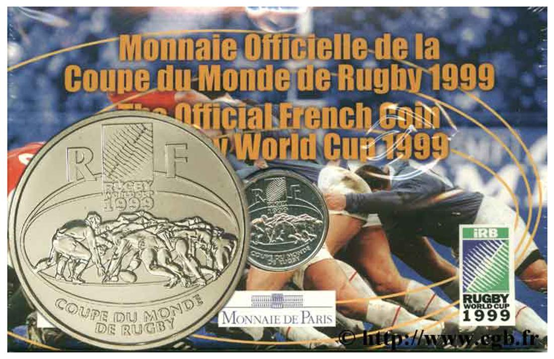 Brillant universel 1 franc coupe du monde de rugby 1999 1 fmd 140366 modernes - Billet coupe du monde de rugby ...