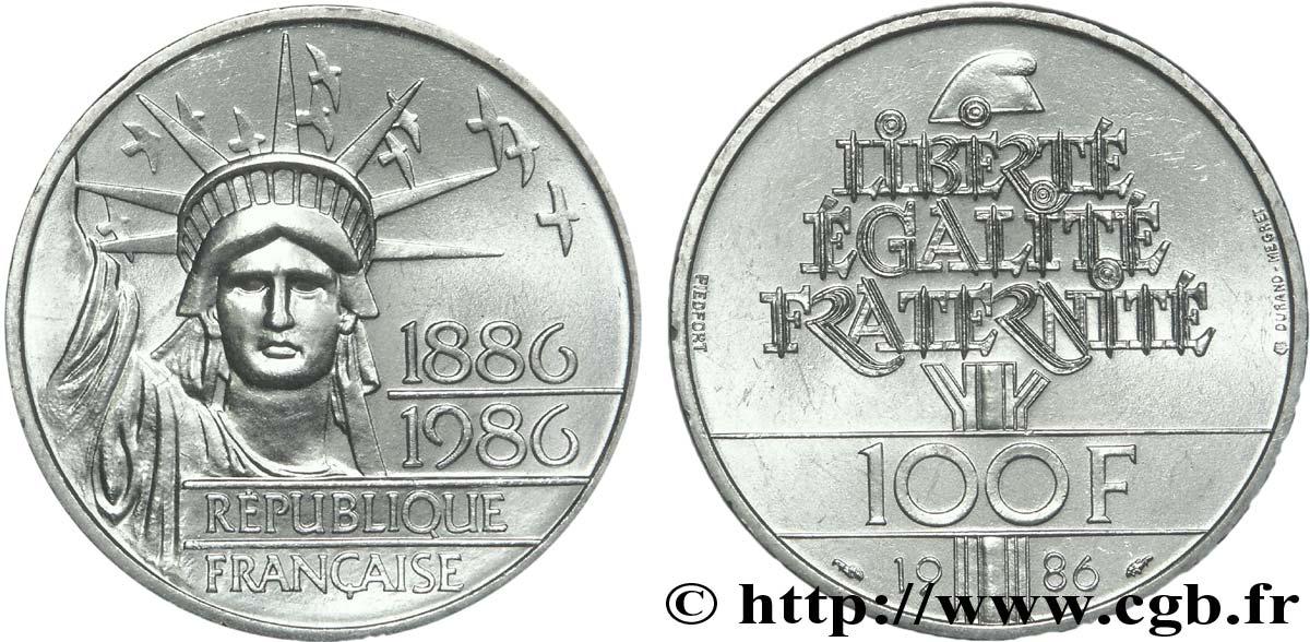 Piefort Brillant Universel De 100 Francs Liberte Statue De La 1986
