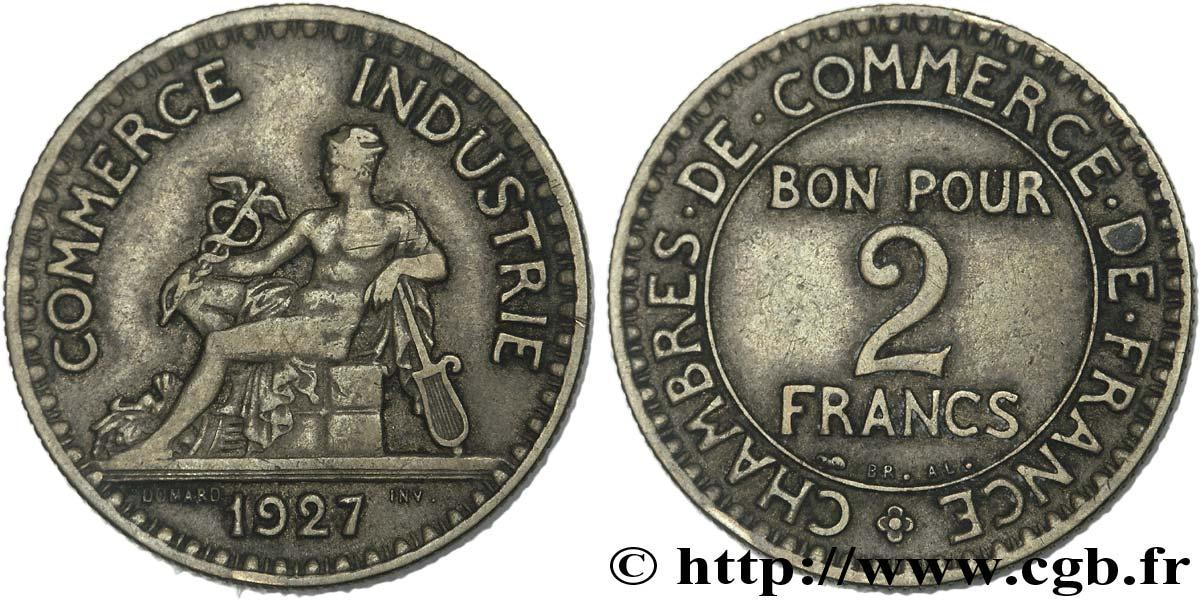 2 francs chambres de commerce 1927 fmd 147575 modernes for Chambre de commerce des bois francs