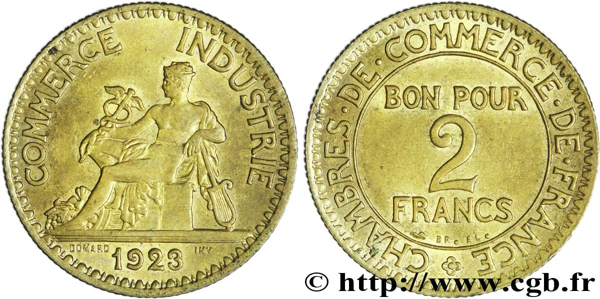 2 francs chambres de commerce 1923 fmd 150715 modernes for Chambre de commerce tuniso francaise
