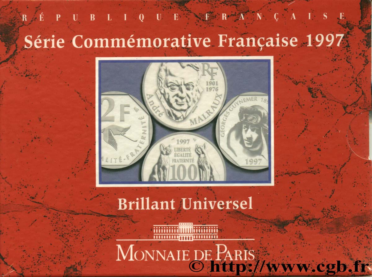 Série Brillant Universel Commémorative 1997 Paris F.5200/17 FDC68