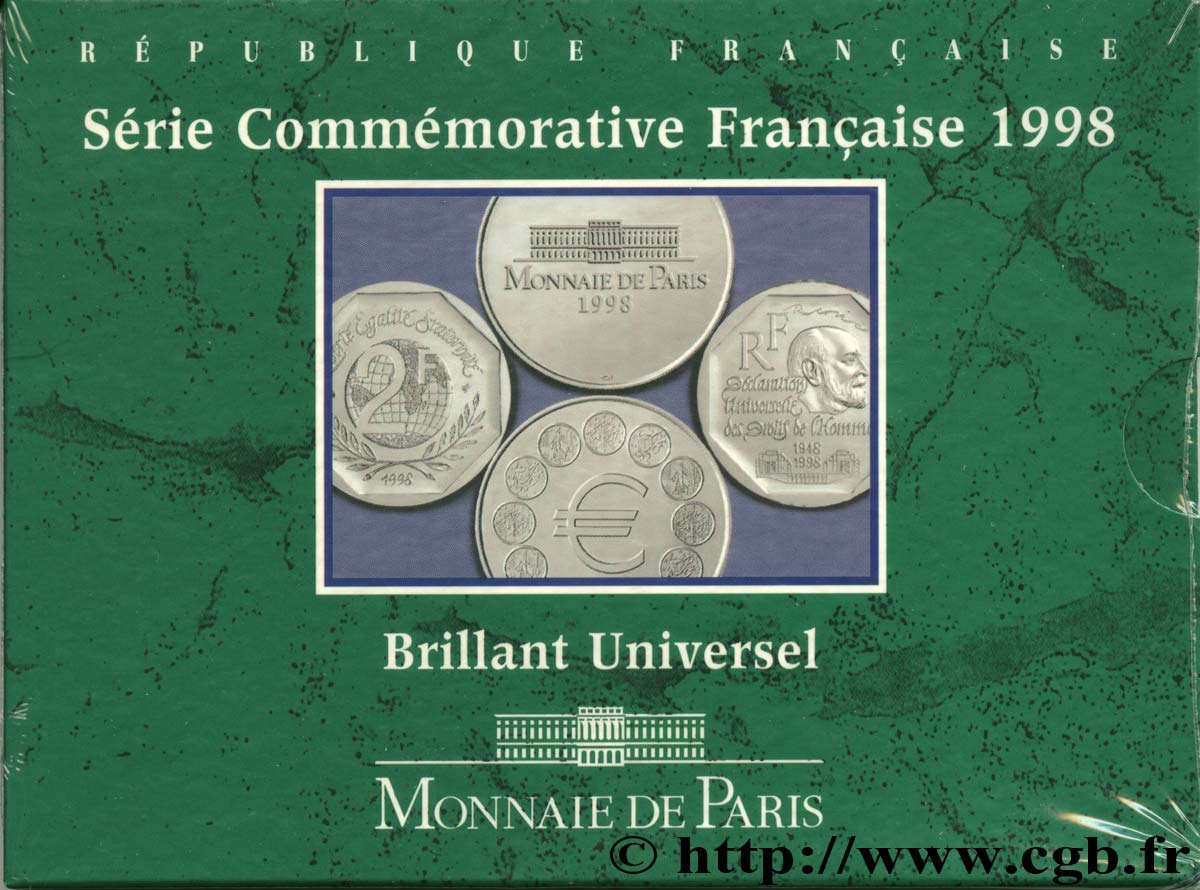 Série Brillant Universel Commémoratives 1998  F.5200/19 FDC70
