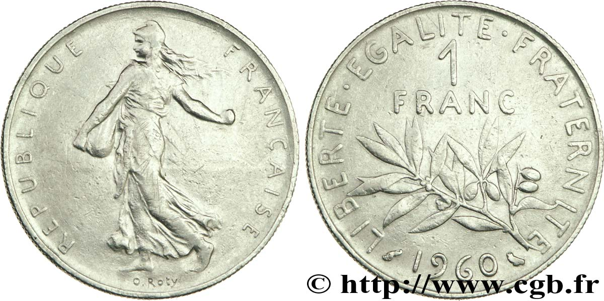 1 Franc Semeuse Nickel Frappe Medaille 1960 Paris F 226 4 Var