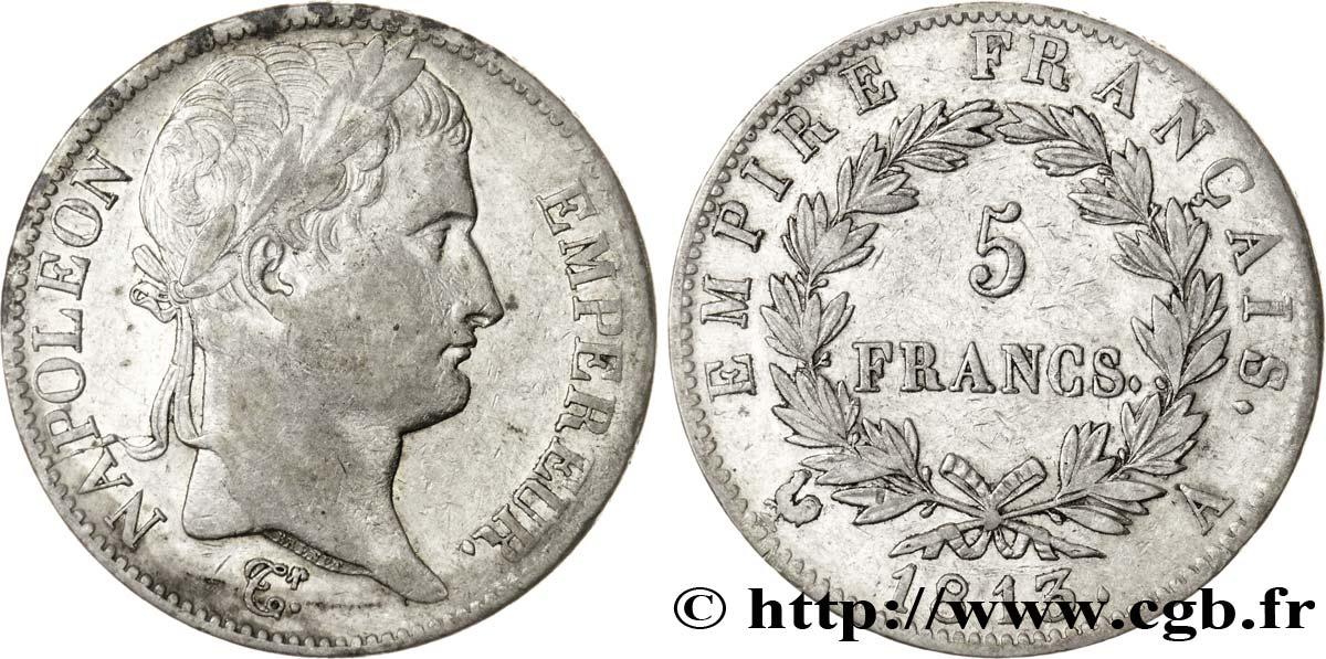 5 francs Napoléon Empereur, Empire français 1813 Paris F.307/58