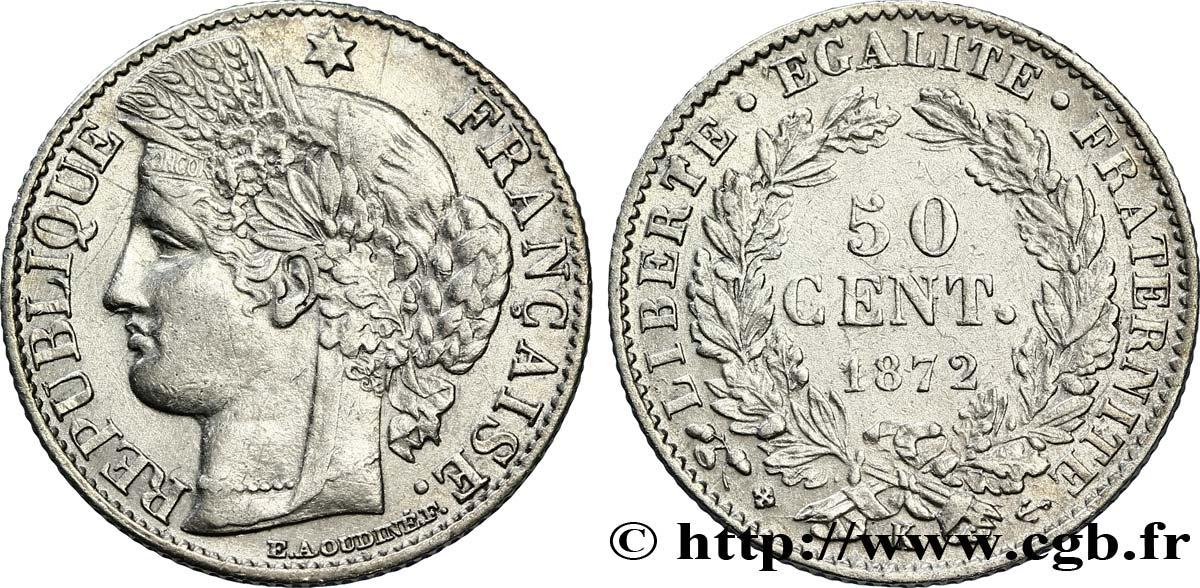 50 centimes Cérès, Troisième République 1872 Bordeaux F.189/4