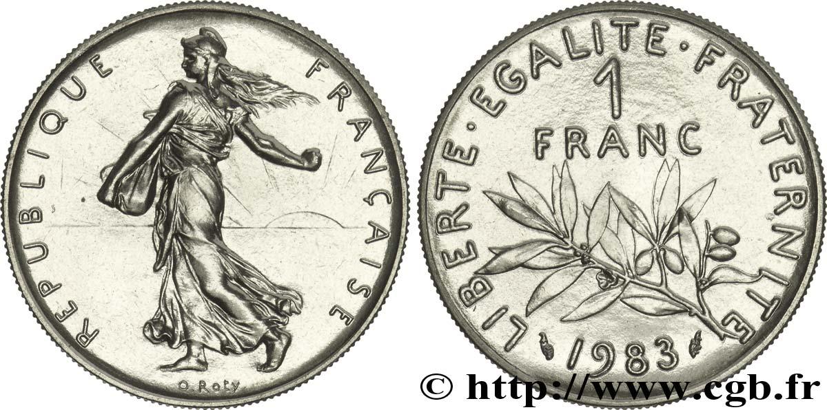 1 franc Semeuse, nickel 1983 Pessac F.226/28 fmd_166139 Modernes