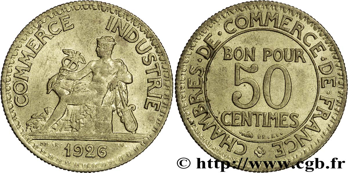 50 centimes chambres de commerce 1926 paris fmd for Chambre de commerce mirabel