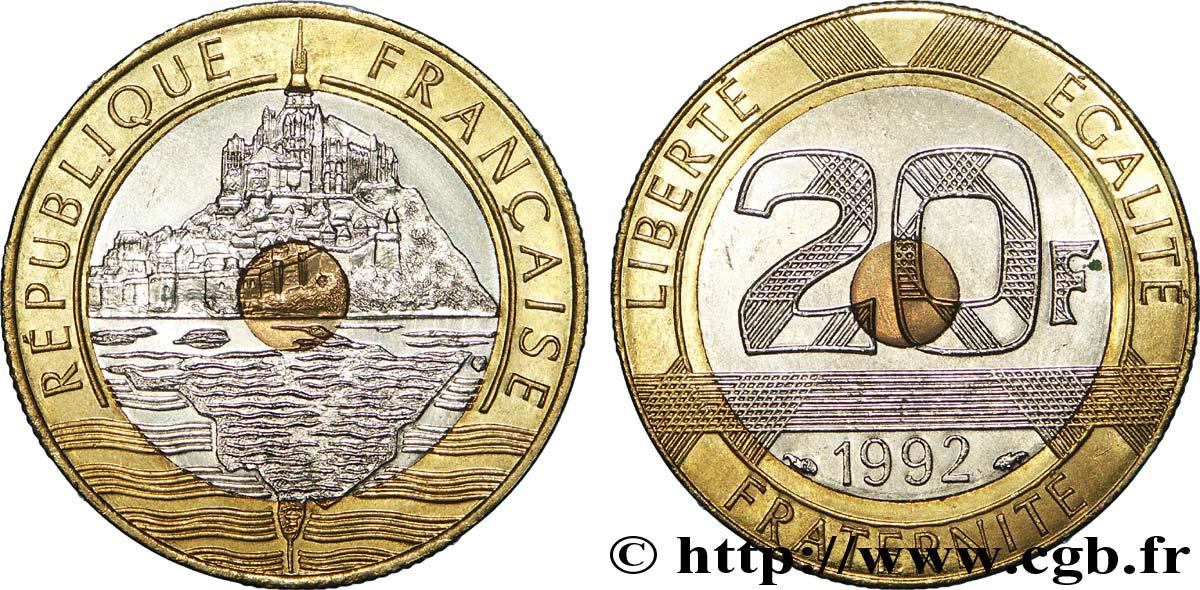 20 Francs Mont Saint Michel 4 Cannelures Ouvert 1992 Pessac F