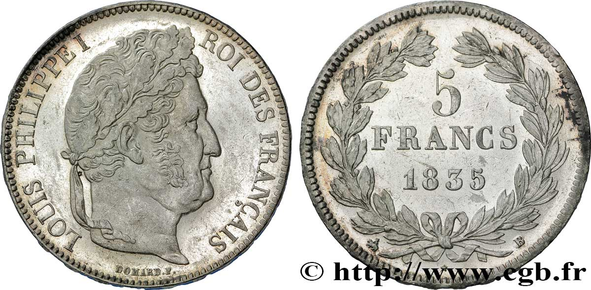 5 francs IIe type Domard 1835 Rouen F.324/43 SUP60