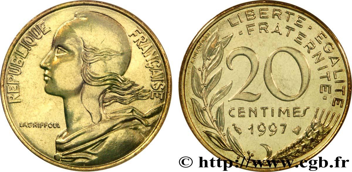 20 Centimes Marianne 1997 Pessac F15641 Fmd187514 Moderne Münzen