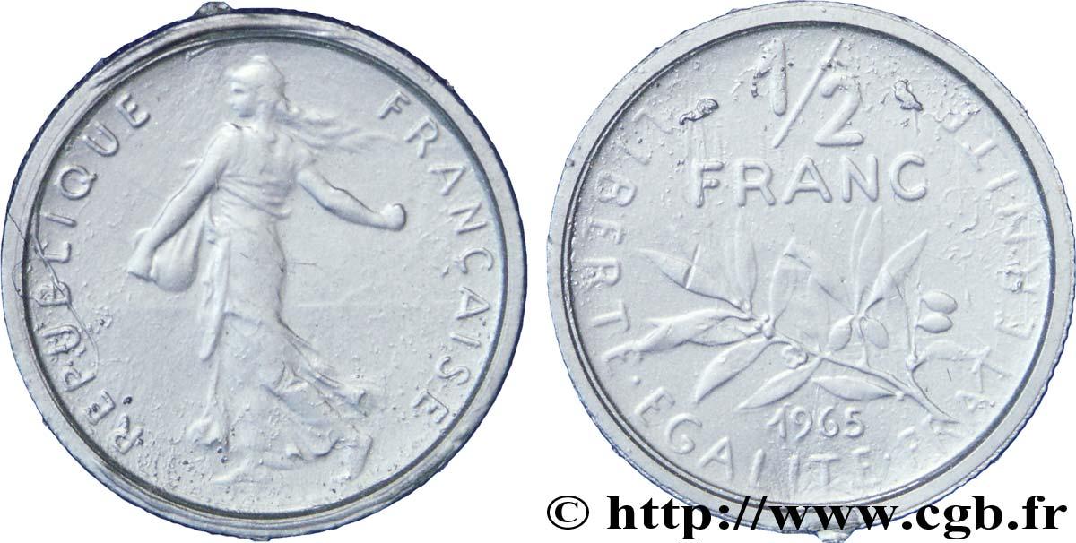 Piece Scolaire De 1 2 Franc Semeuse Plastique 1965 Paris F 198 4
