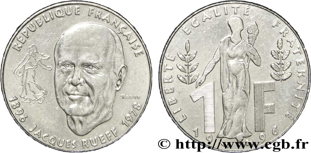 FRANCE 1 franc   RUEFF 1996 etat