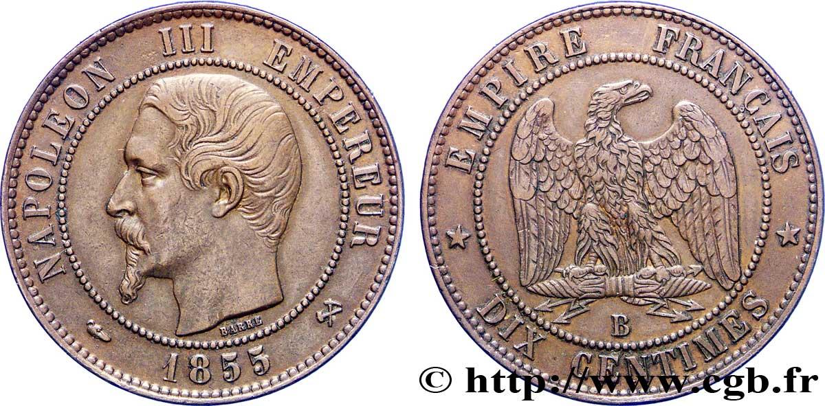 Dix Centimes Napoléon Iii Tête Nue 1855 Rouen F13320 Fmd225220