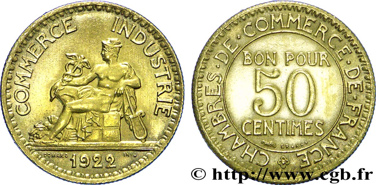 50 Centimes Chambres De Commerce 1922 Paris F 191 4 Fmd 225977