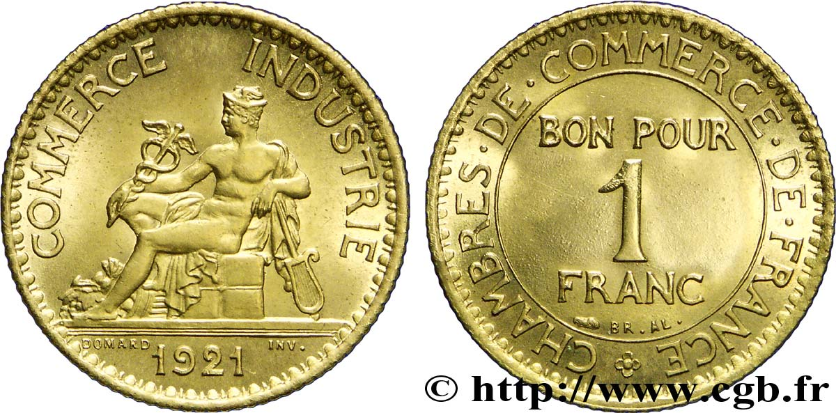 1 franc chambres de commerce 1921 paris fmd 226034 for Chambre de commerce internationale paris arbitrage