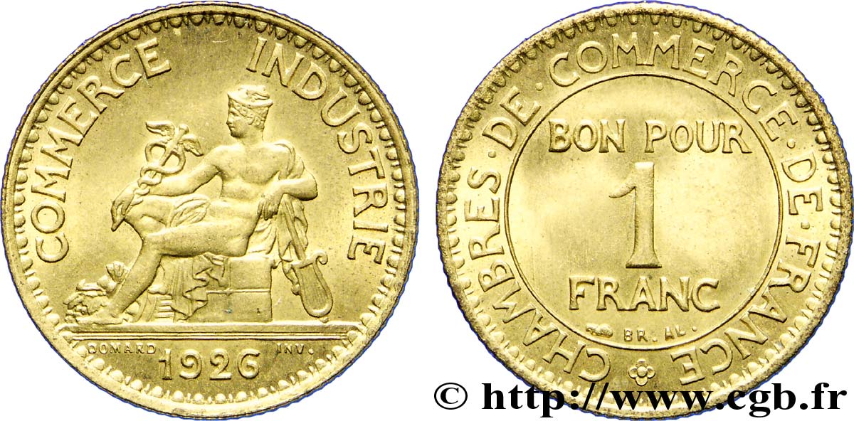 1 franc chambres de commerce 1926 paris fmd 226038 for Chambre de commerce internationale paris arbitrage
