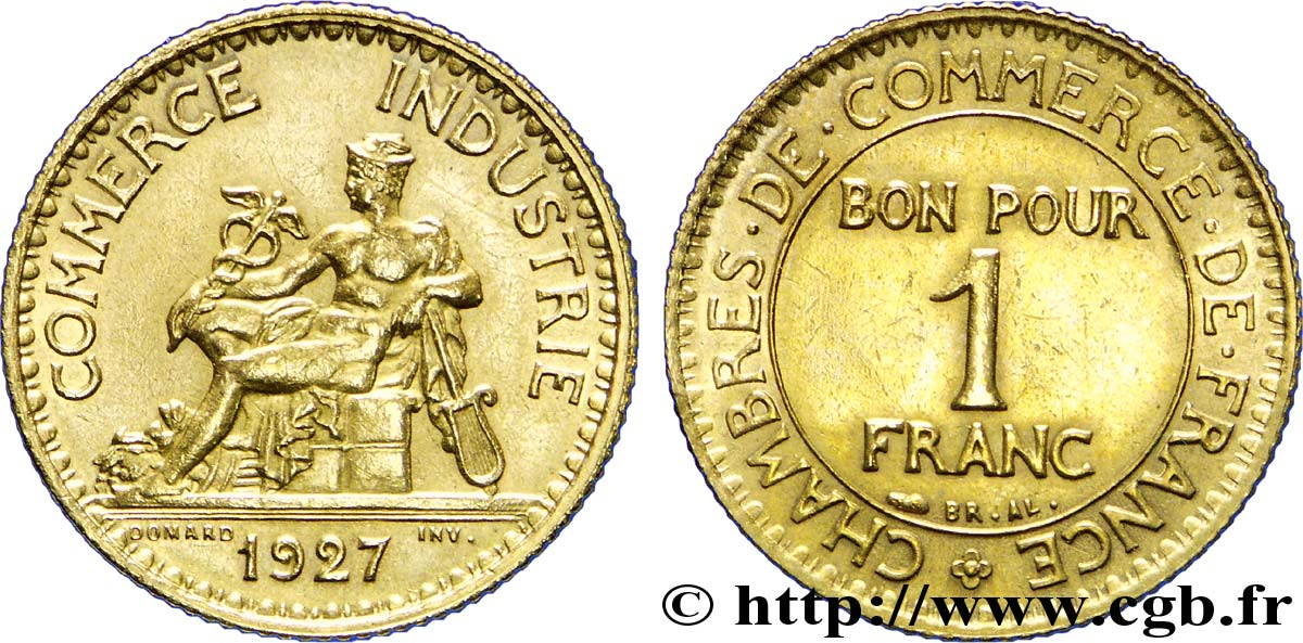 1 franc chambres de commerce 1927 paris fmd 226039 for Chambre de commerce internationale paris arbitrage