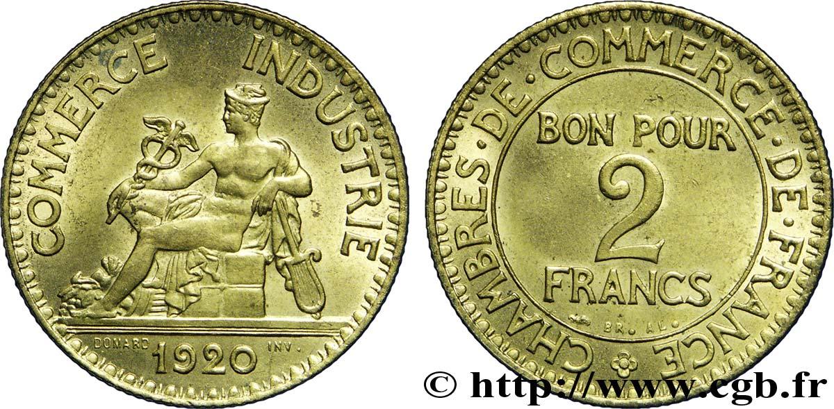 2 francs chambres de commerce 1920 fmd 226089 for Chambre de commerce des bois francs