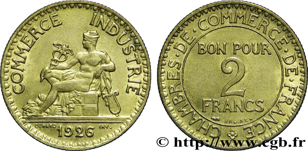 2 francs chambres de commerce 1926 sup58 fmd for Chambre de commerce des bois francs