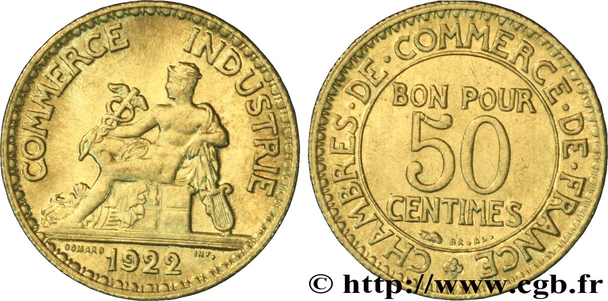 50 centimes chambres de commerce 1922 paris fmd for Chambre de commerce algero francaise