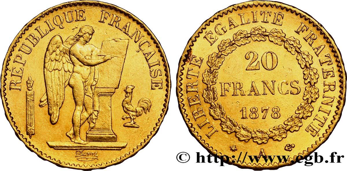 20 francs or g nie troisi me r publique 1878 paris fmd 263517 modernes. Black Bedroom Furniture Sets. Home Design Ideas