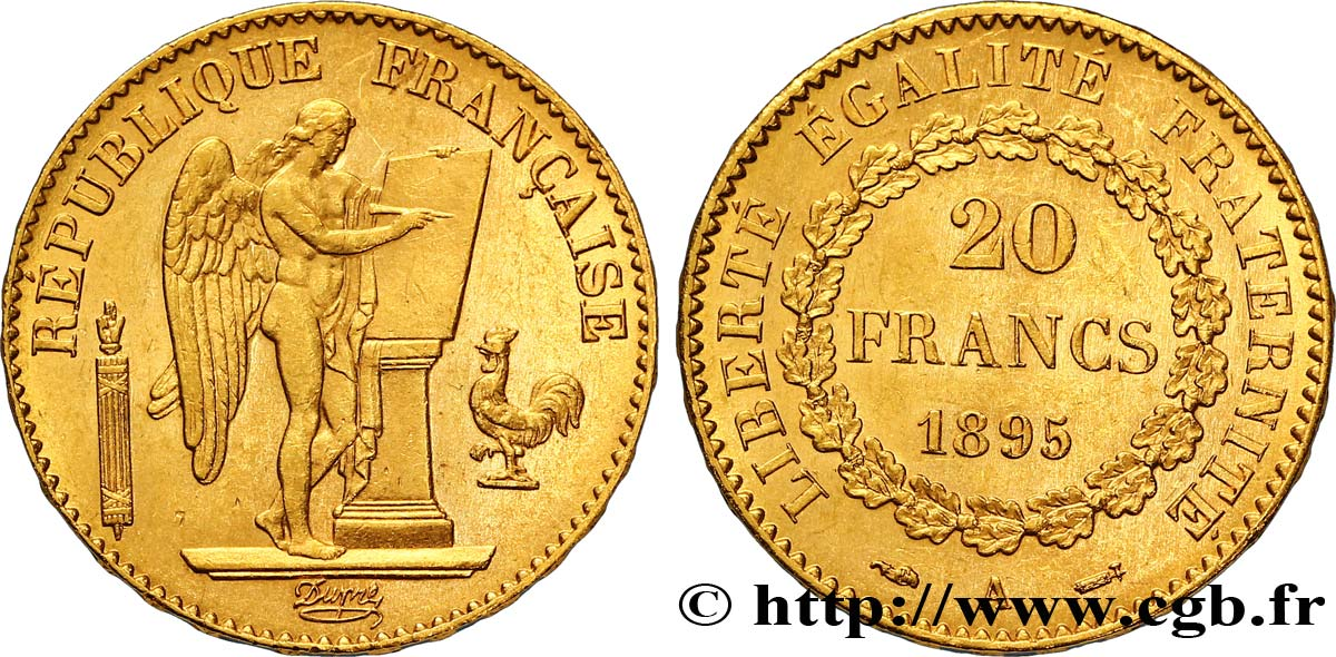 20 francs or Génie, Troisième République 1895 Paris F.533/19