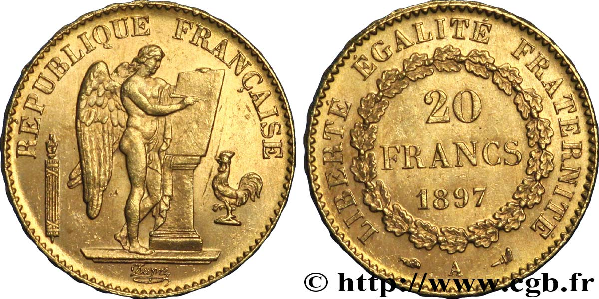 francs or genie troisieme republique paris f fmd a