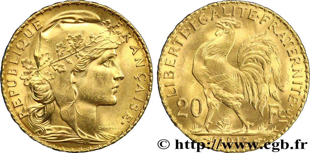 20 Francs Or Coq Liberté égalité Fraternité 1913 Paris F5357