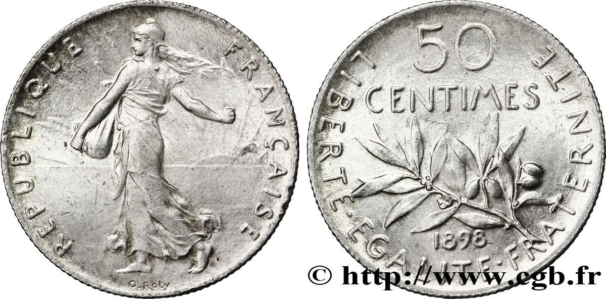 50 centimes Semeuse 1898 Paris F.190/3 fmd_276486 Modernes