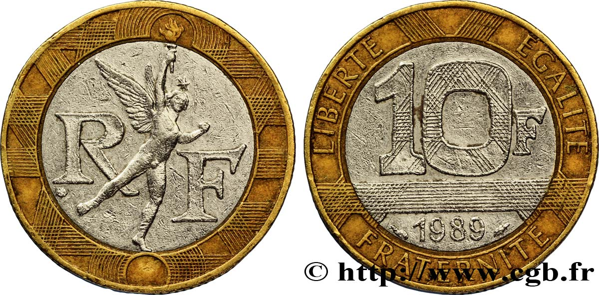 10 francs g nie de la bastille 1989 pessac fmd 285557 modern coins. Black Bedroom Furniture Sets. Home Design Ideas