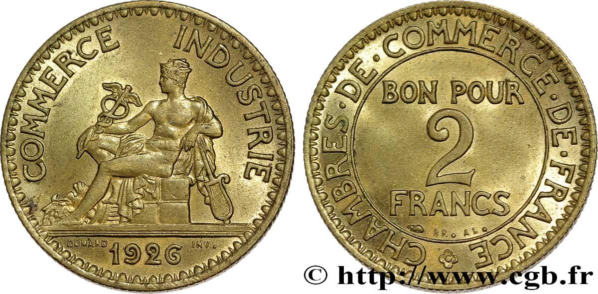 2 francs chambres de commerce 1926 fmd 292880 modernes for Chambre de commerce des bois francs