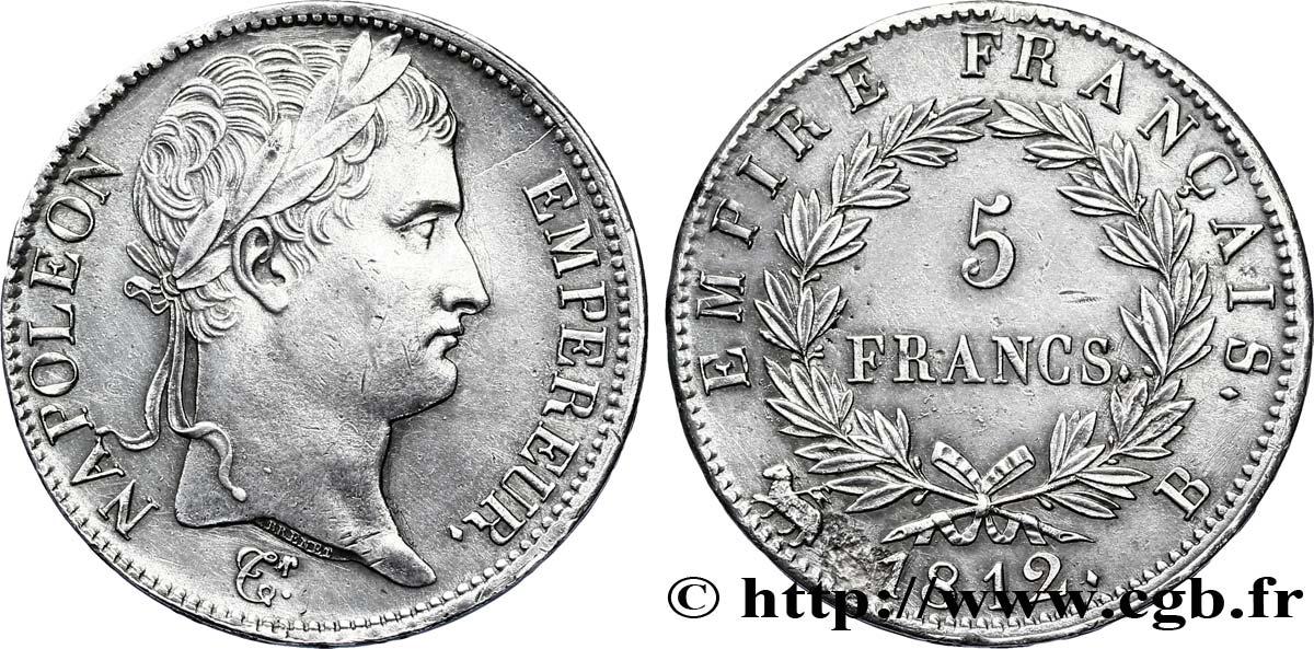 5 Francs Napoléon Empereur Empire Français 1812 Rouen F30742