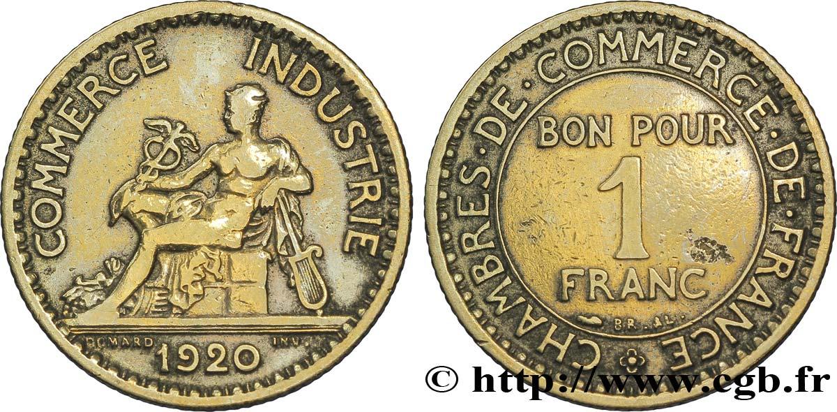 1 franc chambres de commerce 1920 paris xf fmd for Chambre commerce international paris