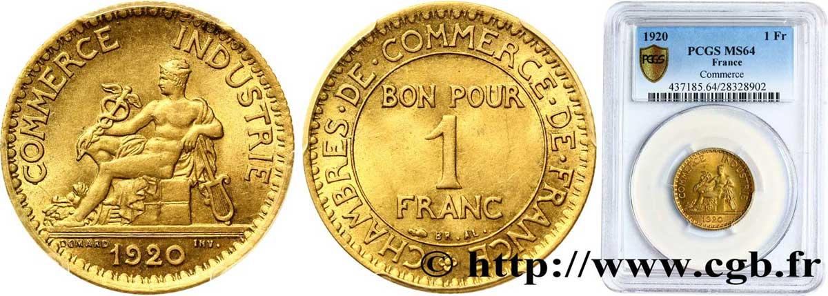 1 franc chambres de commerce 1920 paris fmd 302015 for Chambre commerce industrie paris