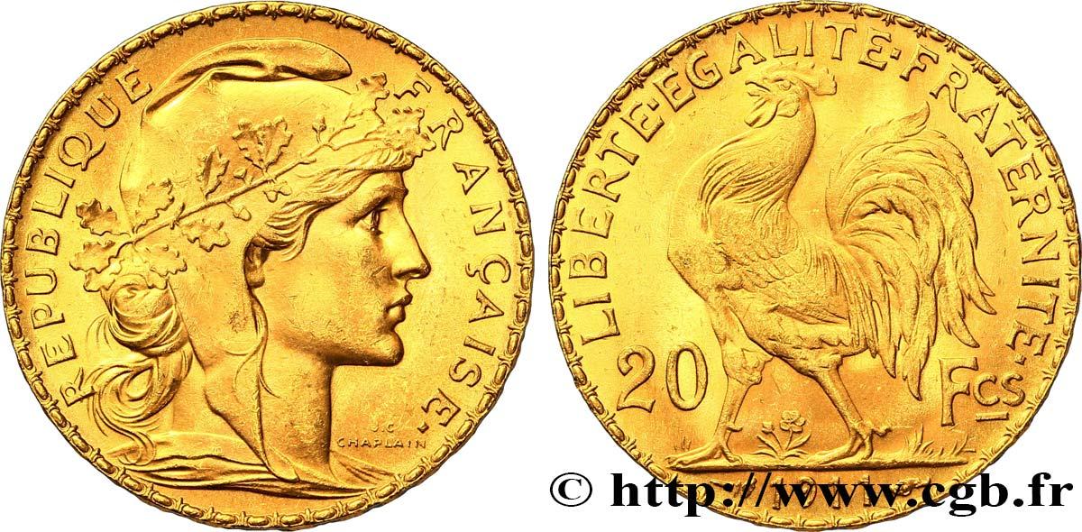 20 Francs Or Coq Liberte Egalite Fraternite 1911 Paris F 535 5
