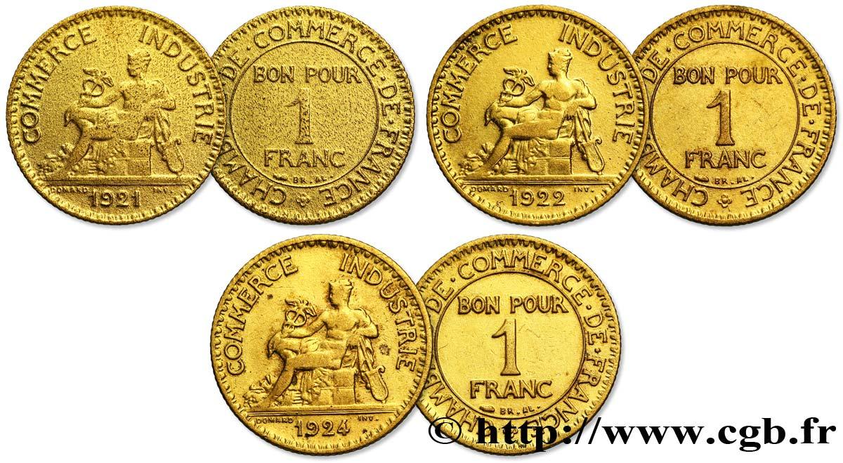 Lot de trois faux de 1 franc chambres de commerce for Chambre de commerce du var