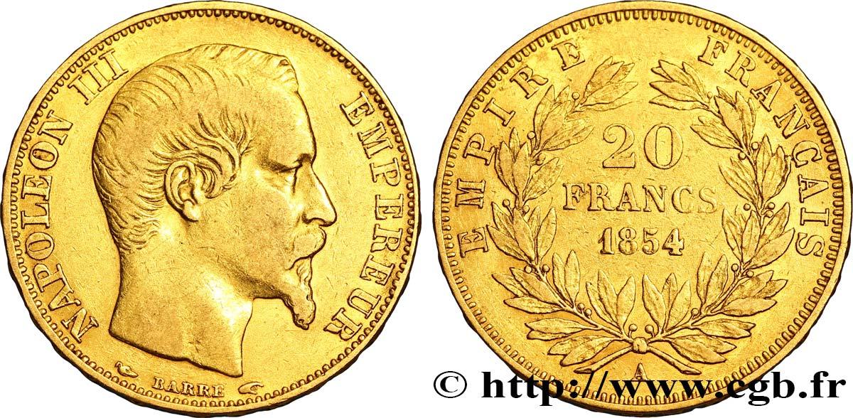 20 francs or napol on iii t te nue 1854 paris fmd 308810 modernes. Black Bedroom Furniture Sets. Home Design Ideas