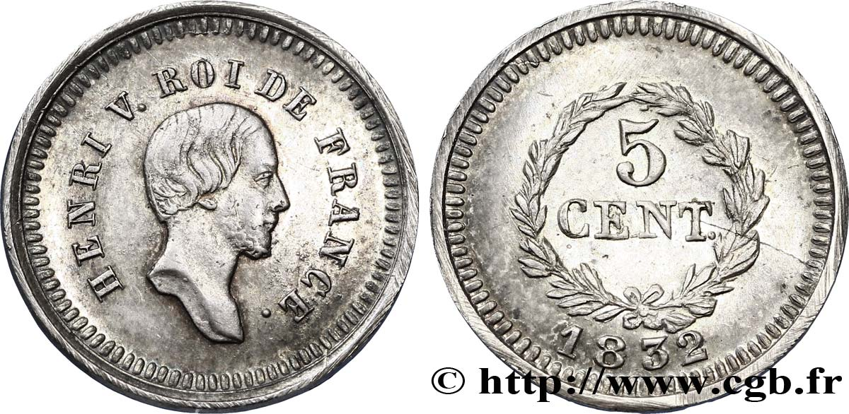 5 centimes 1832  VG.2726 SUP58