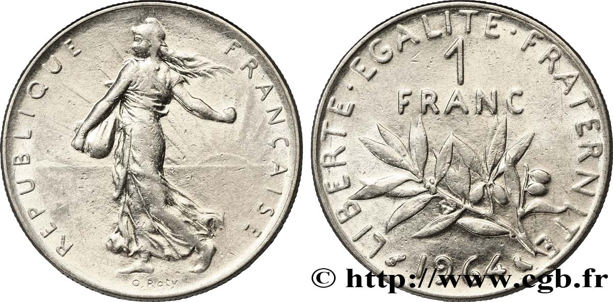 1 franc Semeuse, nickel 1964 Paris F.226/8 TTB48